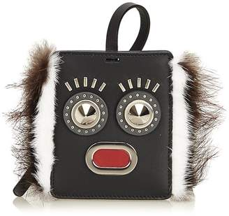 40c040eda51a Fendi Vintage Fur-Trimmed Monster Face Bag Tag