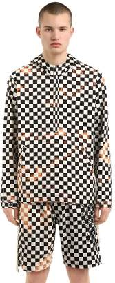 Checker Printed Hooded Cotton Jacket