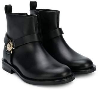 Versace Medusa buckle ankle boots