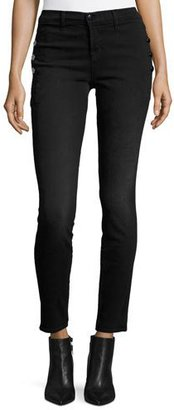 J Brand Zion Mid Rise Skinny Jeans, Defiance $238 thestylecure.com