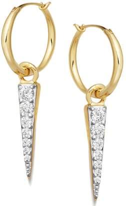 Missoma Mini Pave Spike & Hoop Earrings