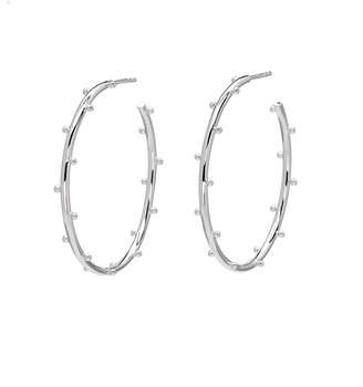 Elizabeth Showers Medium Classic Ball Hoop Earrings