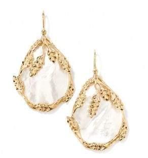 Aurelie Bidermann Women's Françoise Mother-Of-Pearl Drop Earrings - Gold