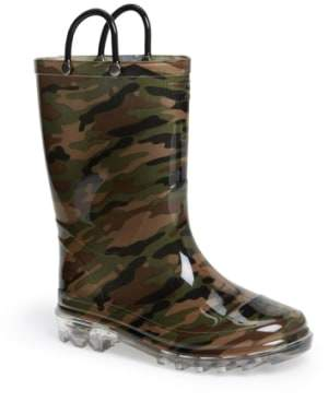 Western Chief 'Camo' Light-Up Rain Boot