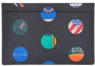 Paul Smith Cycle Jersey Polka Dot Leather Cardholder - Mens - Black