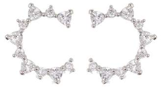 Nordstrom Rack Pave CZ Curved Stud Earrings