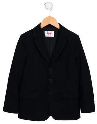 Il Gufo Girls' Fleece Notch-Lapel Blazer