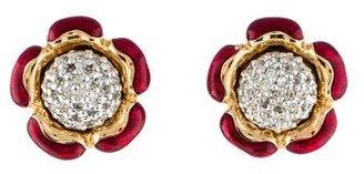 Judith Leiber Crystal Flower Earrings $145 thestylecure.com