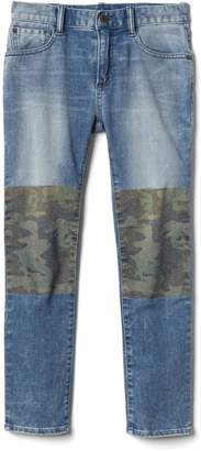 Gap Camo Panel Slim Jeans with High Stretch