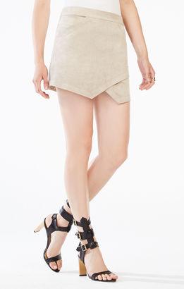 Beckett Faux-Suede Miniskirt $138 thestylecure.com