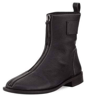 Giuseppe Zanotti x Zayn Men's Zip-Front Leather Ankle Boot