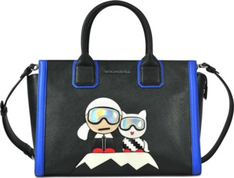 Karl Lagerfeld Karl & Choupette Mountain Holiday tote $366 thestylecure.com