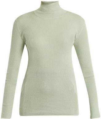 Prada High-neck ribbed-knit sweater