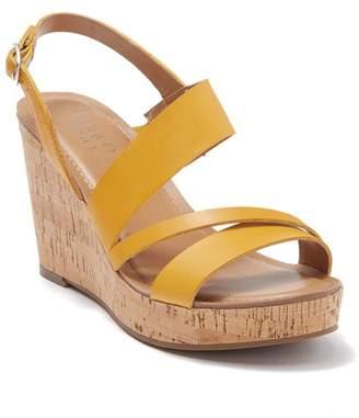 Franco Sarto Cooper Leather Wedge Sandal