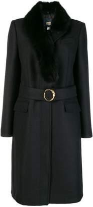 Class Roberto Cavalli fur collar coat
