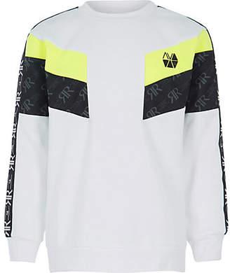 c48e19db6 River Island Boys RI Active white block sweatshirt