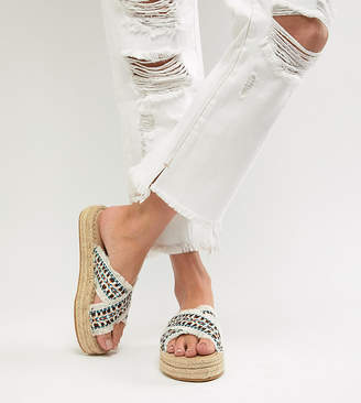 London Rebel Flatform Espadrille Sandals