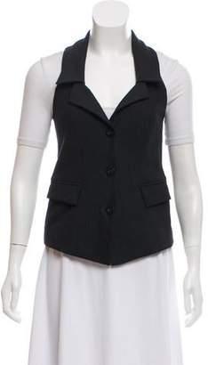 Diane von Furstenberg Pointed Collar Button-Up Vest