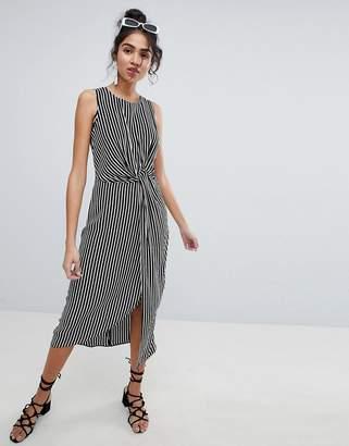 New Look Twist Front Midi Dress