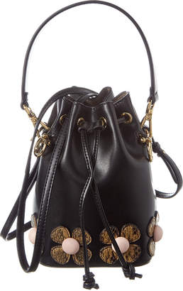 Fendi Mon Tresor Mini Leather & Snakeskin Bucket Bag