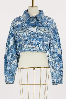 Off-White Off White Tapestry cropped denim jacket