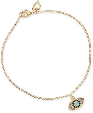 Thalia Sodi Gold-Tone Crystal & Stone Evil Eye Ankle Bracelet, Created for Macy's