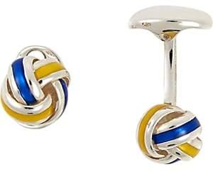 Deakin & Francis Men's Knot Cufflinks-Royal Blue
