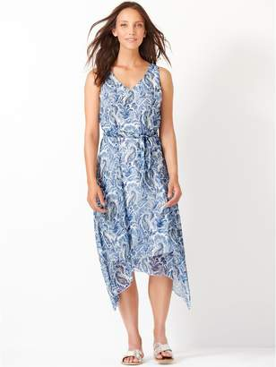 44d992c1cd29 M&Co Paisley print hanky hem dress