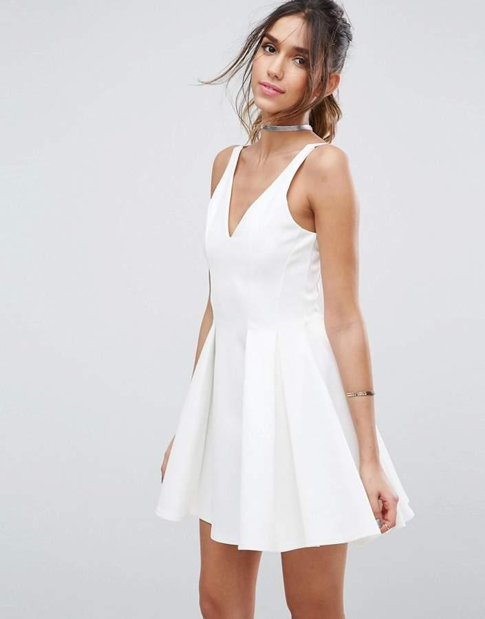 AsosASOS High Apex Seamed Scuba Mini Dress