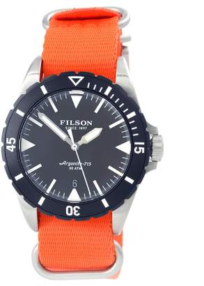 Filson Shinola F0120001754 Dutch Harbor Argonite 715 Orange Diver Men's Watch
