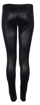 RIDDLED WITH STYLE Womens WetLook PVC Shiny Legging Ladies Faux Leather Pant#( WetLook Shiny Legging#UK 8-10#Womens)
