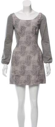 Rachel Comey Snakeskin Print Bodycon Dress
