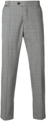 Eleventy classic checked trousers