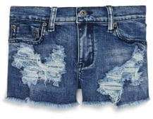 Vintage Havana Girl's Distressed Denim Shorts