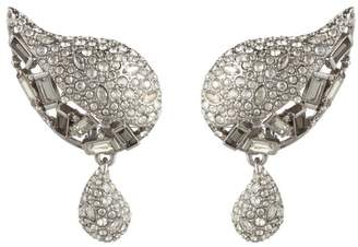 Alexis Bittar Crystal Encrusted Paisley Button Clip Earring