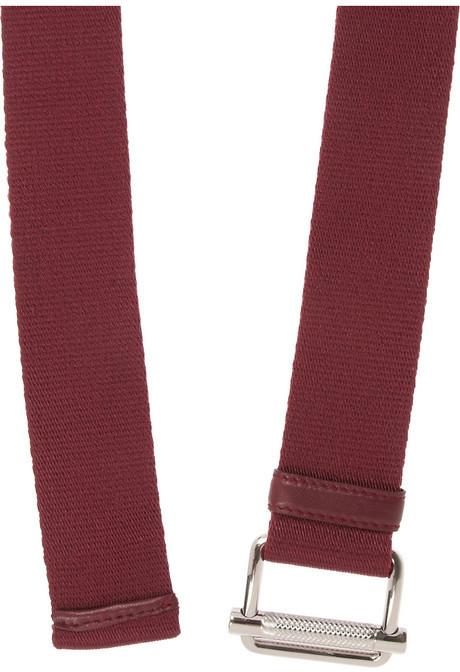 Miu Miu Leather-trimmed canvas belt