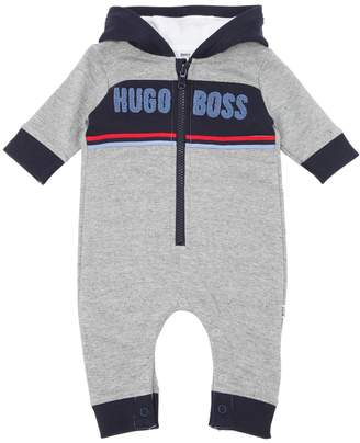 HUGO BOSS Hooded Cotton Sweatshirt Romper