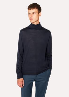 Paul Smith Men's Dark Navy Merino Wool Roll Neck Sweater