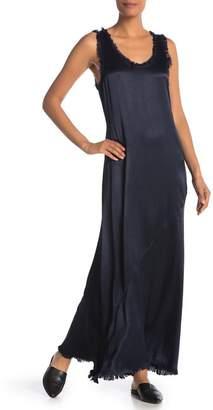 MOON & SKY Satin Tank Maxi Dress