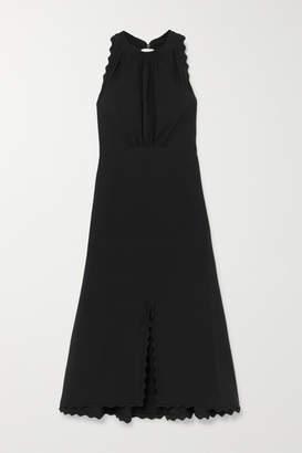 Chloé Scalloped Cady Midi Dress - Black