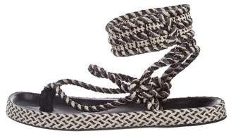 Isabel Marant Braided Thong Sandals