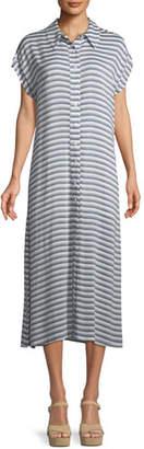 Rachel Pally Striped Button-Front Shirtdress, Plus Size