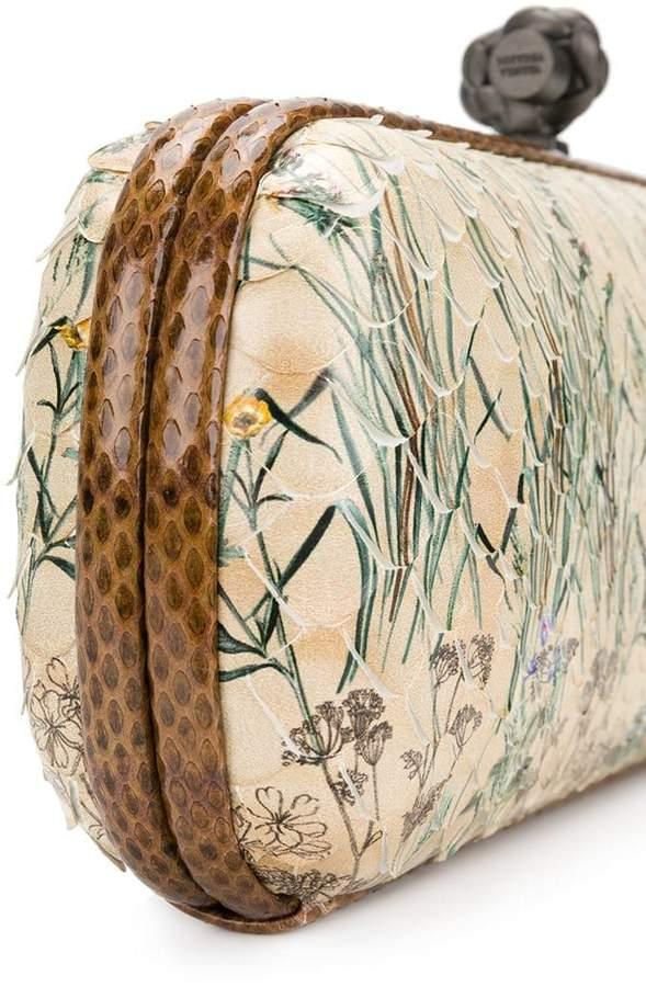 Bottega Veneta botanical print python stretch knot detail image f6ce2703ca1ad
