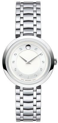 Women's Movado 1881 Diamond Bracelet Watch, 28Mm $1,295 thestylecure.com