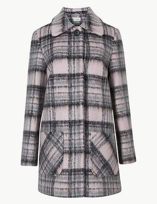 Marks and Spencer Checked Patch Pocket Coat