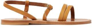 K. Jacques Erka Leather Sandals - Womens - Tan