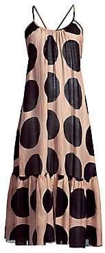 Stella McCartney Women's Silk-Blend Polka-Dot Midi Dress
