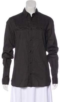 AllSaints Long-Sleeve Button-Up Top
