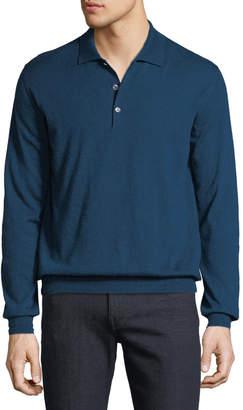 Brioni Men's Cashmere Polo Sweater