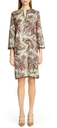 Etro Paisley Print Wool Shift Dress